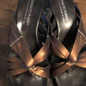 Donald J Pliner Cathe Wedge Sandal sz 10